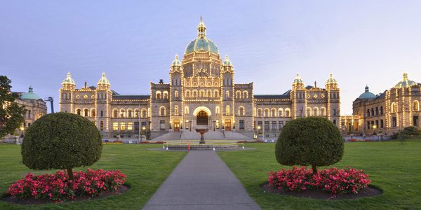 Kanada British Columbia Parliament Buildings Victoria