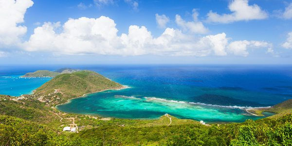 British Virgin Islands Hotels: Ausblick auf das Meer